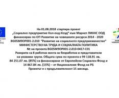 """проект """"Социално предприятие Кол-енд-Коуд"""""""